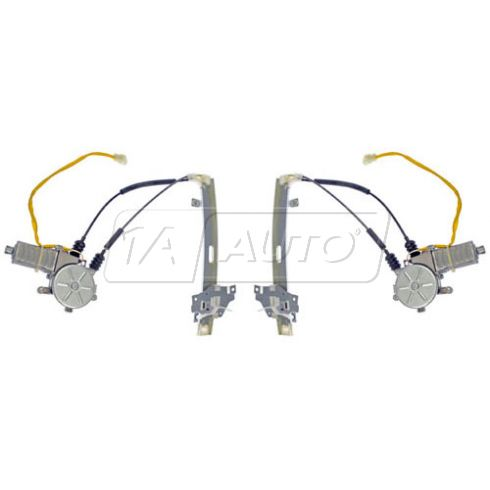 1998-99 Kia Sephia; 00 (thru 5/16/99) Sephia Power Window Regulator w/Motor Rear PAIR