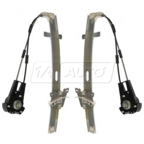 1986-89 Mazda 323 Hback; 87-89 Tracer 2dr Manual Window Regulator Front PAIR