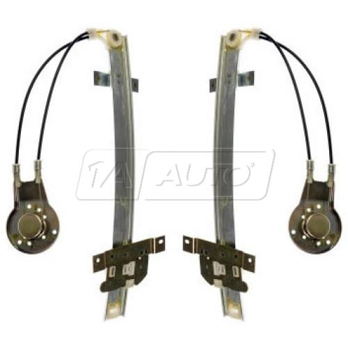 1986-91 Mazda 626 Sedan; 92 626 Manual Window Regulator Front PAIR