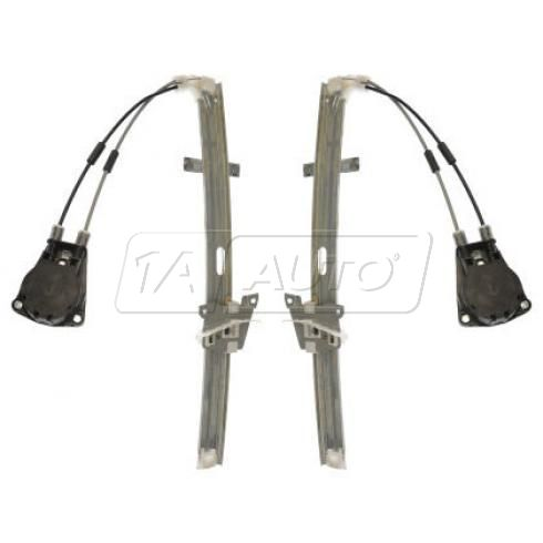 1989-95 Mazda MPV Van Manual Window Regulator Front PAIR