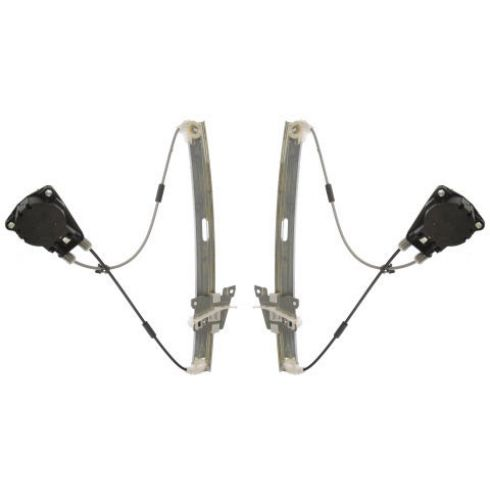 2000-06 Mazda MPV Van Manual Window Regulator Front PAIR