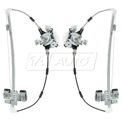 2005-07 Dodge Dakota Quad Cab, 08-11 Dakota Crew Cab Manual Window Regulator Rear PAIR