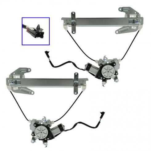 1998-01 Nissan Altima Power Window Regulator w/Motor Rear PAIR