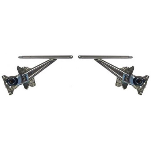 1996-00 Toyota Rav 4 Power Window Regulator w/o Motor Rear PAIR