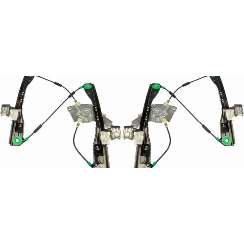2005-10 Pontiac G6 Sedan Power Window Regulator w/Motor Front PAIR