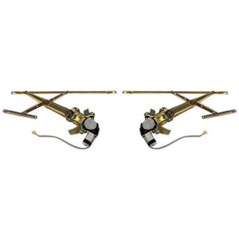 1987-89 Honda Accord 2dr & 3dr Power Window Regulator w/Motor Front PAIR