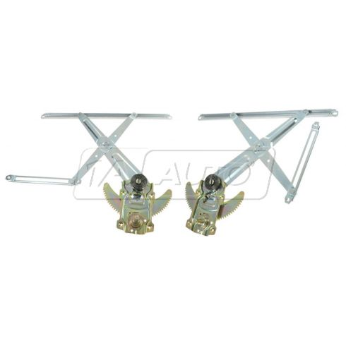 91-92 Toyota Land Cruiser Manual Window Regulator Front PAIR