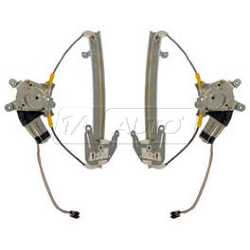 93-97 Nissan Altima Power Window Regulator w/Motor Rear PAIR