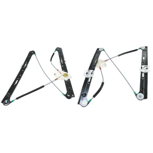 04-10 BMW X3 Power Window Regulator w/o Motor Front PAIR