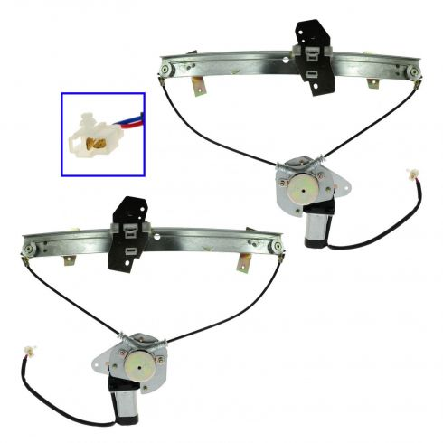 1990-94 Eclipse, Laser, Talon Power Window Regulator w/o Motor PAIR