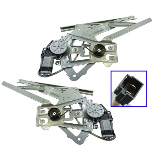 1996-00 Breeze, Cirrus, Stratus (w/7 tooth Mtr) Power Window Regulator w/Motor Front PAIR