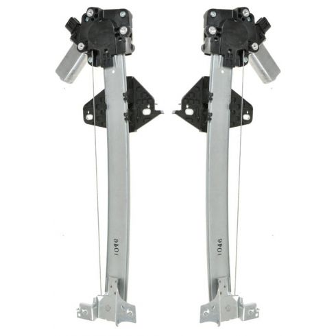 2006-11 Honda Civic Hybrid; 06-10 Civic; 06-09 CSX Power Window Regulator w/Motor Rear PAIR