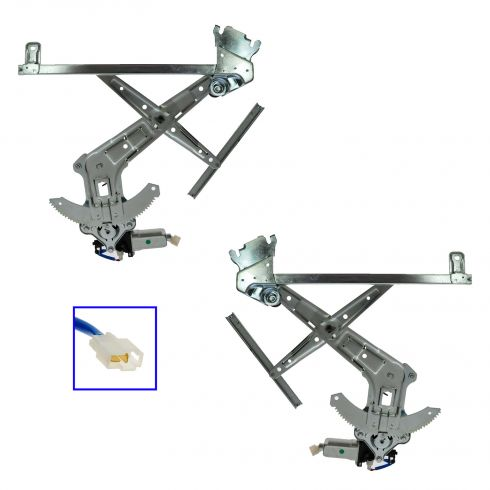 03-08 Subaru Forester Front Door Power Window Regulator w/Motor PAIR