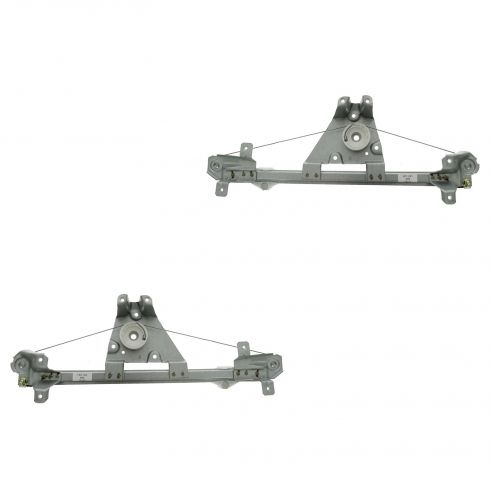 99-03 Saab 9-3 (5DR Hatch); 94-98 900 Rear Door Power Window Regulator (w/o Motor) PAIR