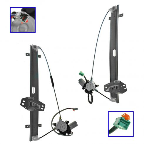 01-02 Acura MDX Front Door Power Window Regulator w/Motor PAIR