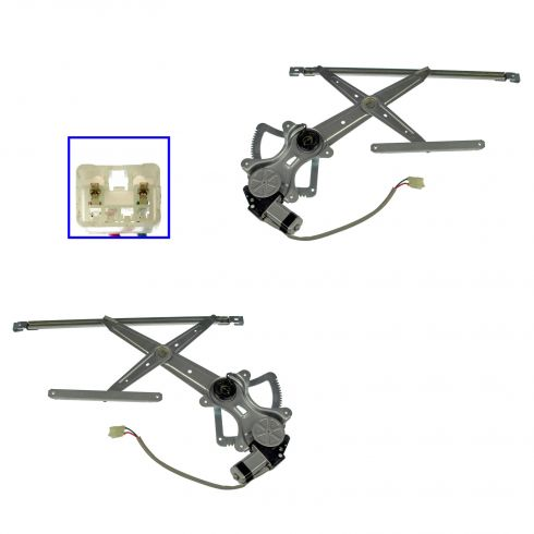 08-11 Sequoia; 07-10 Tundra; 07-10 Tundra Crew Max Front Door Power Window Regulator w/Motor PAIR