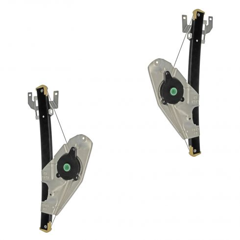 98-04 Audi A6; 01-05 Allroad; 03-04 RS6; 02-03 S6 Rear Door Power Window Regulator (w/o Motor) PAIR