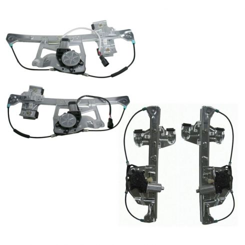 Window Regulator with Motor (Set of 4)