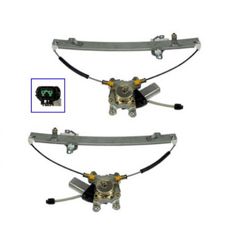 05-11 Nissan Pathfinder Rear Door Power Window Regulator w/Motor PAIR