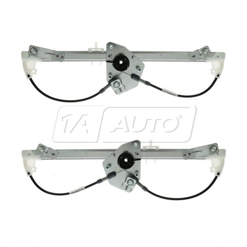 04-10 BMW X3 Rear Door Power Window Regulator w/o Motor PAIR