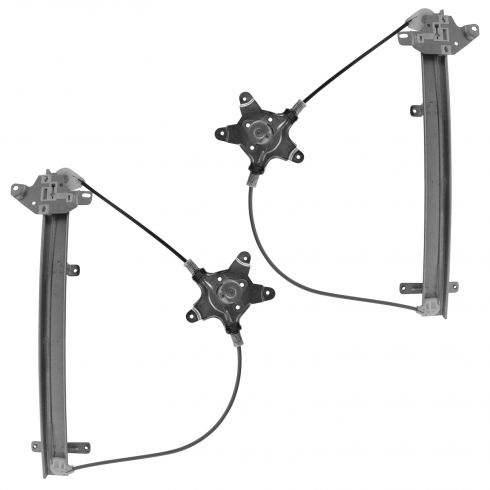 98-04 Nissan Frontier; 00-04 Xterra Front Door Manual Window Regulator Pair