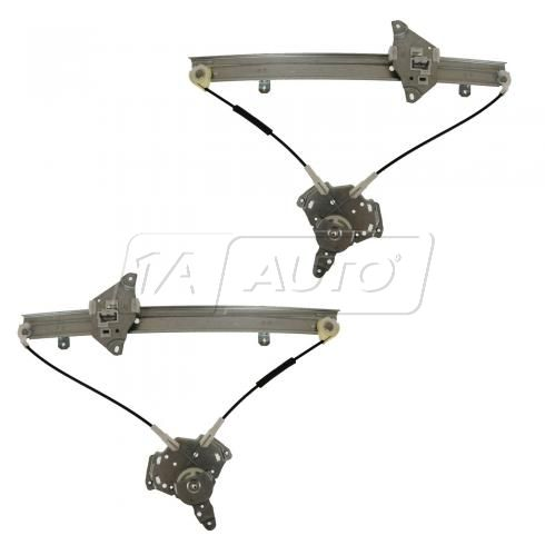 89-90 Colt 89-92 Mirage Sdn 89-91 Summit Front Door Power Window Regulator w/o Motor PAIR