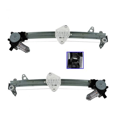 08-13 Honda Accord Sedan LX (w/o Exp Down) Front Door Power Window Regulator w/Motor PAIR