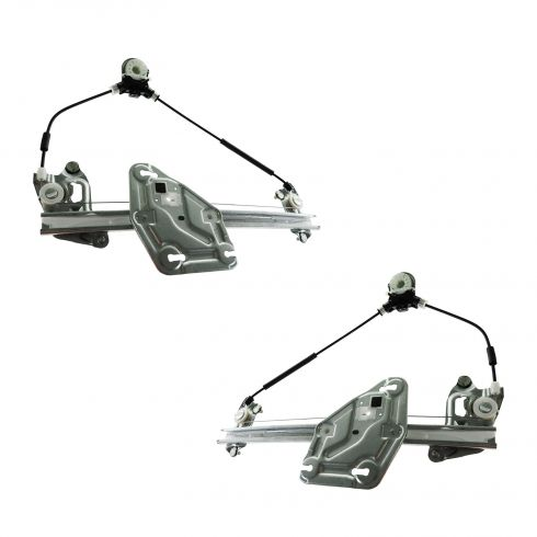06-12 Mazda MX-5 Miata Power Window Regulator w/o Motor PAIR