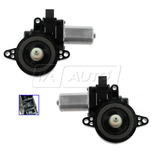 09 Mazda 6; 10 Mazda 6 (w/ 1 Touch Down Sys) Front Door Power Window Motor PAIR
