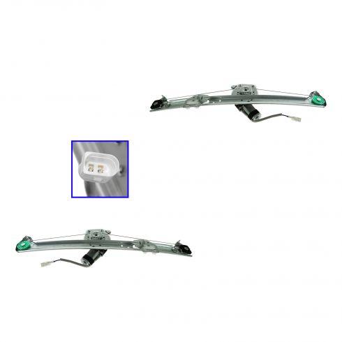 00-06 BMW X5 Rear Door Power Window Regulator w/Motor PAIR