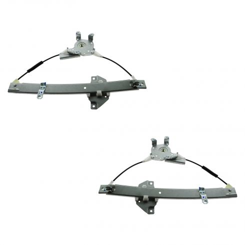 95-96 Dodge Colt; 93-95 Mitsubishi Mirage Rear Door Power Window Regulator w/o Motor PAIR