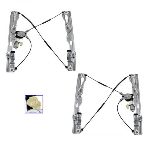 09-10 Ford F150 (All Models) Front Door Power Window Regulator w/Motor PAIR