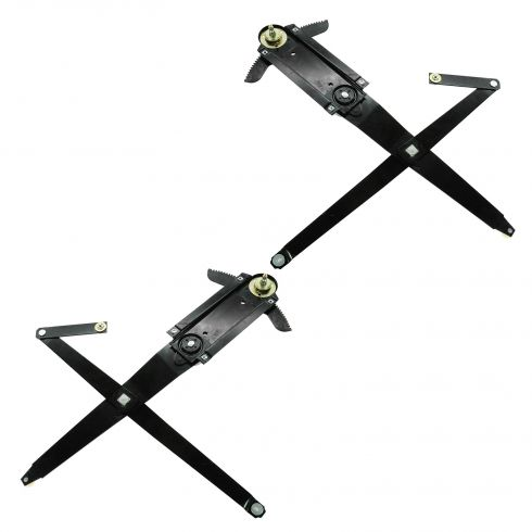 69-70 Ford Mustang (w/Bonded on Door Glass), Mercury Cougar Manual Window Regulator PAIR
