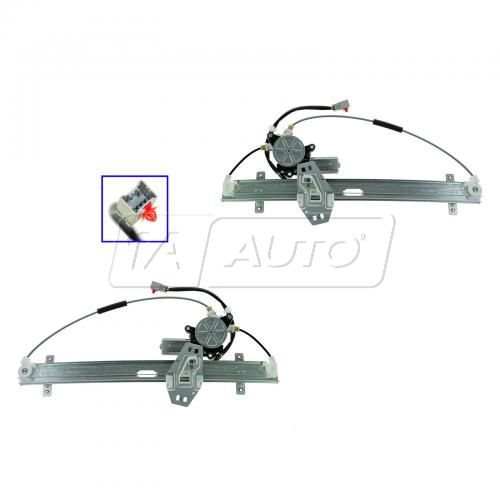 03-06 Acura MDX Front Door Power Window Regulator w/Motor (6 pin) PAIR
