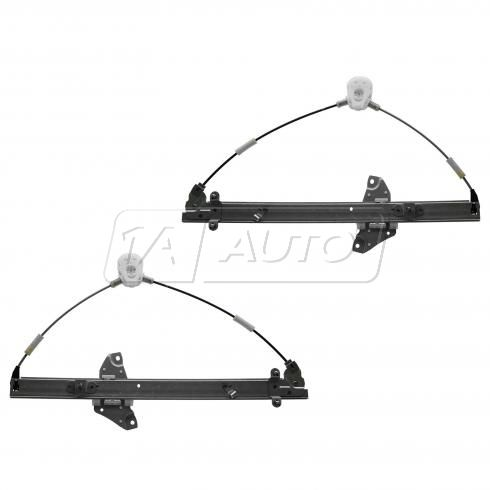 96-00 Toyota Rav 4 (4 Door) Front Door Power Window Regulator w/o Motor PAIR (OE)