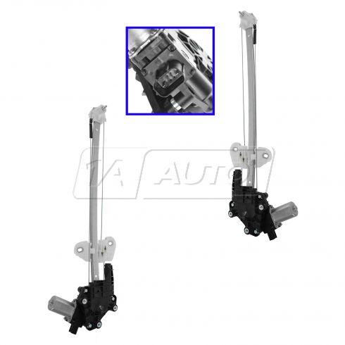 12-13 Honda CR-V Rear Door Power Window Regulator w/o Motor PAIR