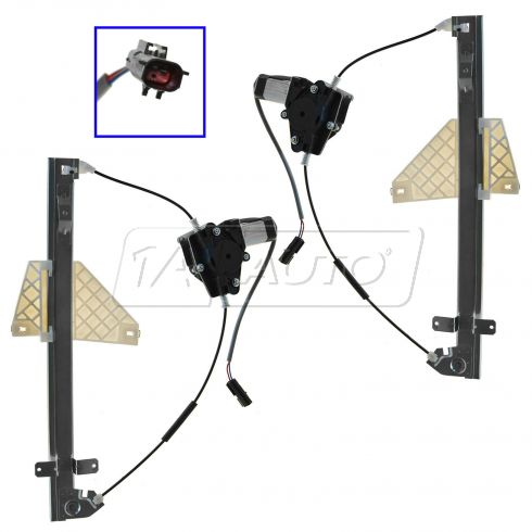 01-04 Jeep Grand Cherokee Power Window Regulator With Motor Rear Pair