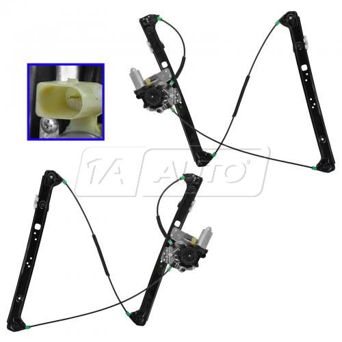00-06 BMW X5 Power Window Regulator w/Motor Pair
