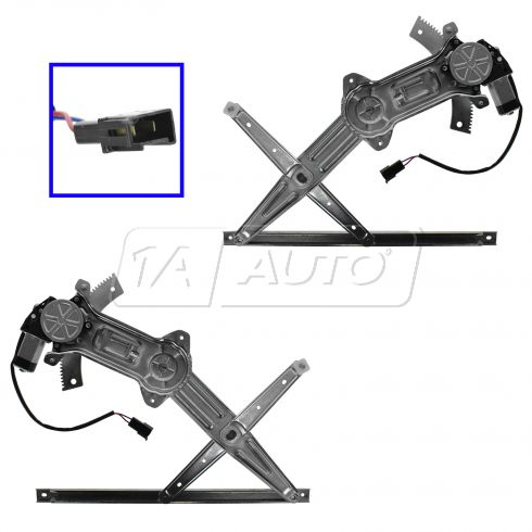 94-04 Ford Mustang Power Window Regulator w/Motor Pair