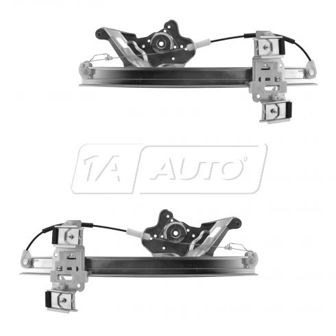 00-05 Buick Lesabre Front Door Power Window Regulator (w/o Motor) Pair
