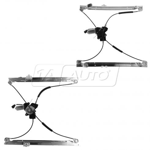 2001-03 Caravan Power Window Regulator Pair Front