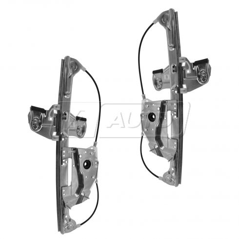 00-05 Cadillac Deville Power Window Regulator w/o Motor Rear Pair