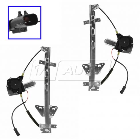 98-03 Dodge Durango; 00-04 Dakota Quad Cab Window Regulator w/Mtr Pair