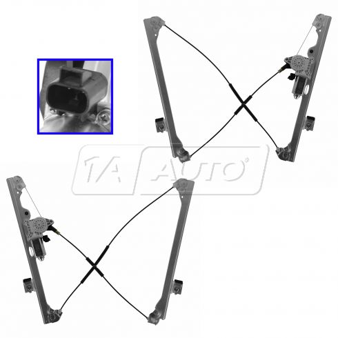 07-11 GM PU SUV Multifit Power Window Regulator w/Motor Pair