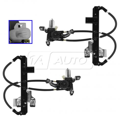 2004-02 Escalade, 2000-04 Tahoe, 2000-04 Yukon Pwr Wdw Regulator w/Motor Rear Pair