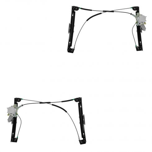 02-05 (thru 6/1/05) Mini Cooper Power Window Regulator w/Motor PAIR