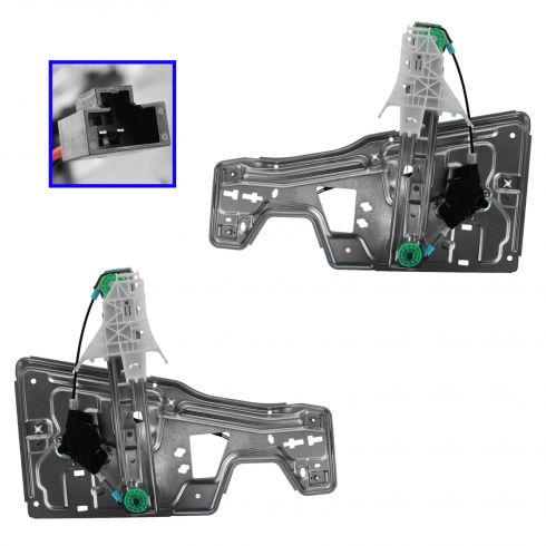 05-09 Chevy Equinox; 06-09 Pontiac Torrent Rear Door Power Window Regulator Module w/Motor Pair