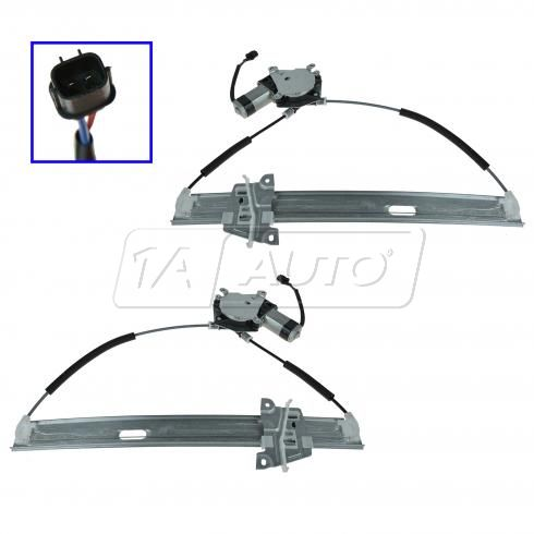8-12 Ford Escape, Hybrid; 08-11 Mariner, Hybrid Front Door  Window Regulator w/Motor Pair (Dorman)