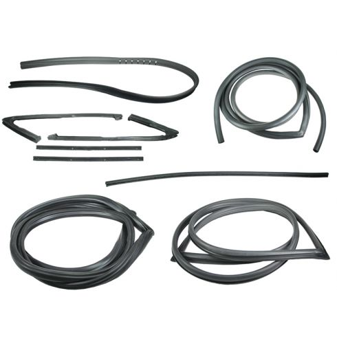1967-70 GM Pickup Complete Weatherstrip Kit for Trucks with Black Seal Trim
