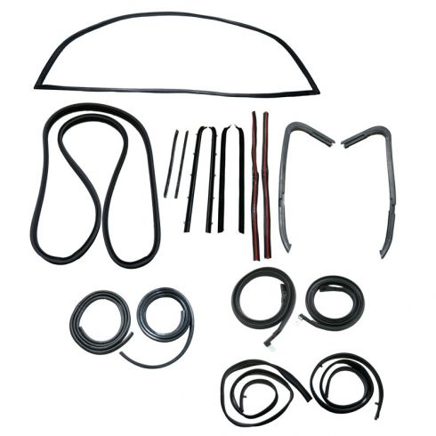 GM Pickup Complete Weatherstrip Kit for Trucks with Black Seal Trim
